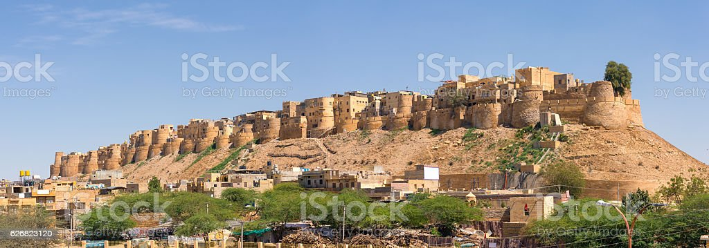 Jaisalmer fort in Rajasthan, India stock photo