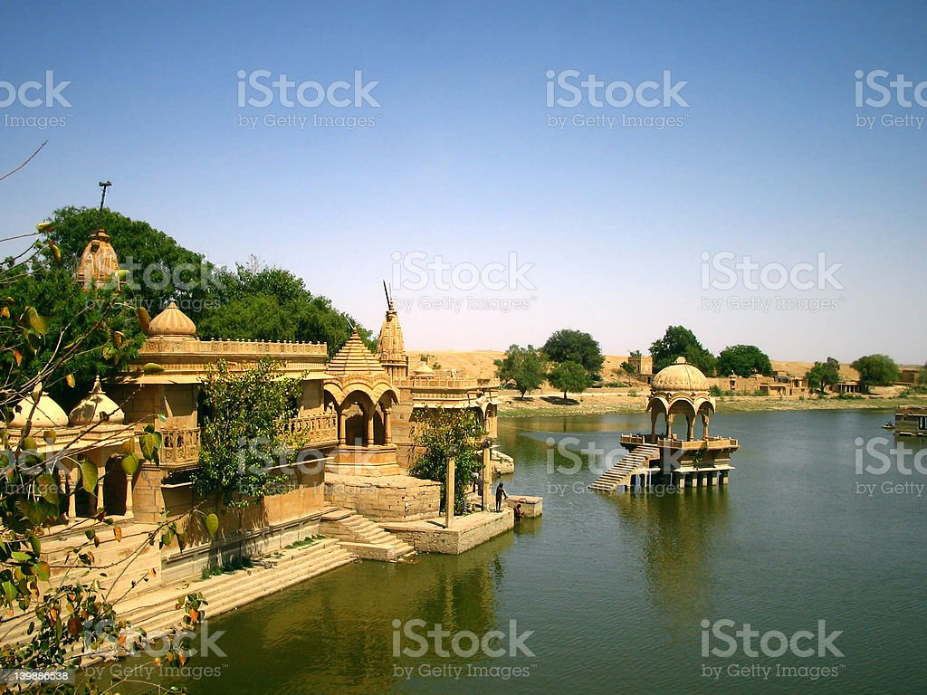 Jaisalmer Lake stock photo