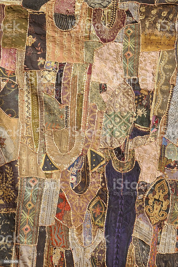 Jaisalmer -  patchwork wall cloth royalty-free stock photo