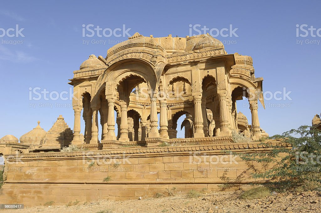 Jaisalmer-tombe della famiglia reale foto stock royalty-free