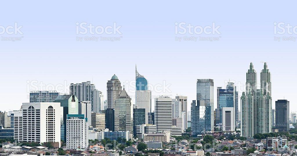 Jakarta CBD Panorama stock photo