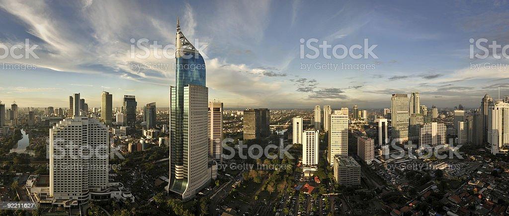 Jakarta City Skyline stock photo