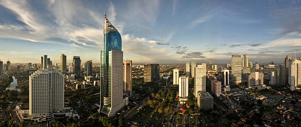 Jakarta City Skyline stock photo