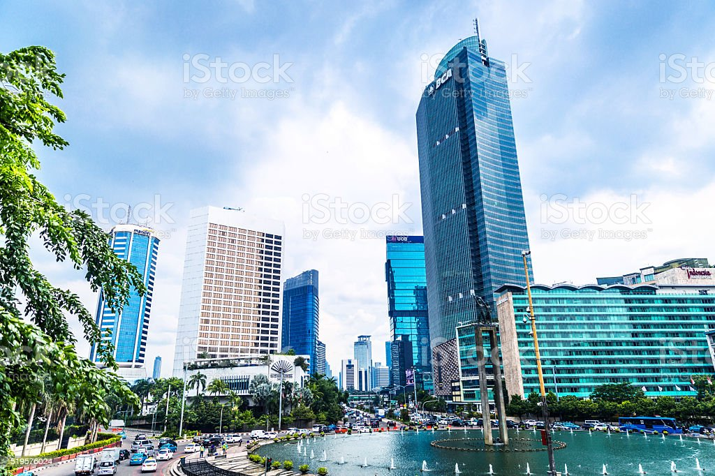 Jakarta Cityscape and Central District stock photo