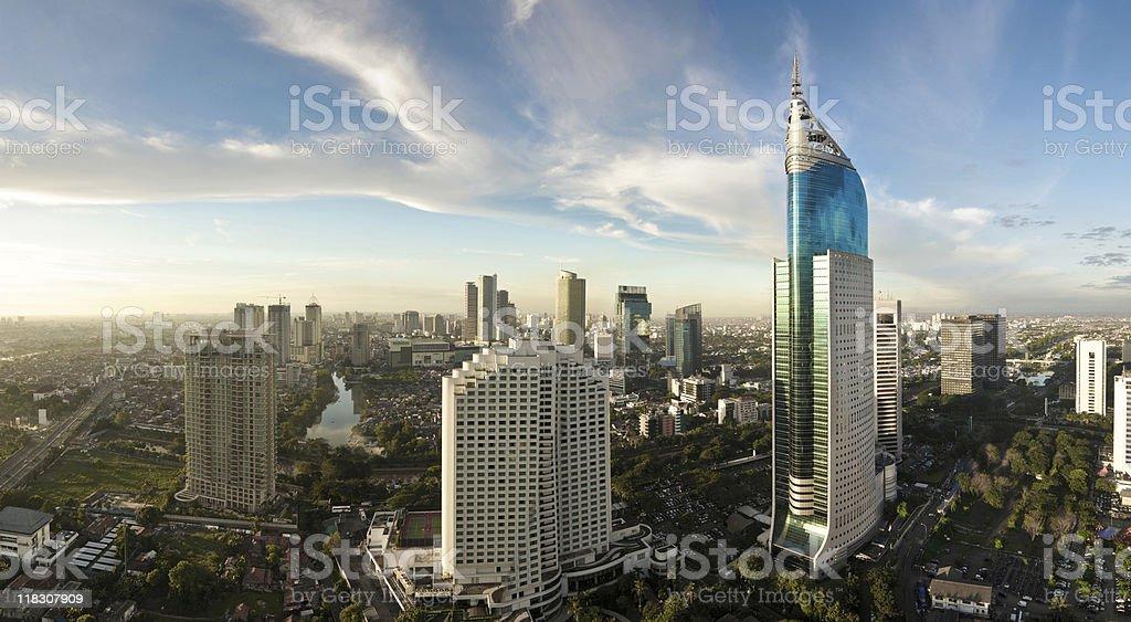 Jakarta Cityscape stock photo