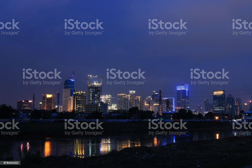Jakarta cityscape royalty-free stock photo