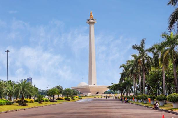 Jakarta, Indonesien, Nationaldenkmal (Monas). – Foto