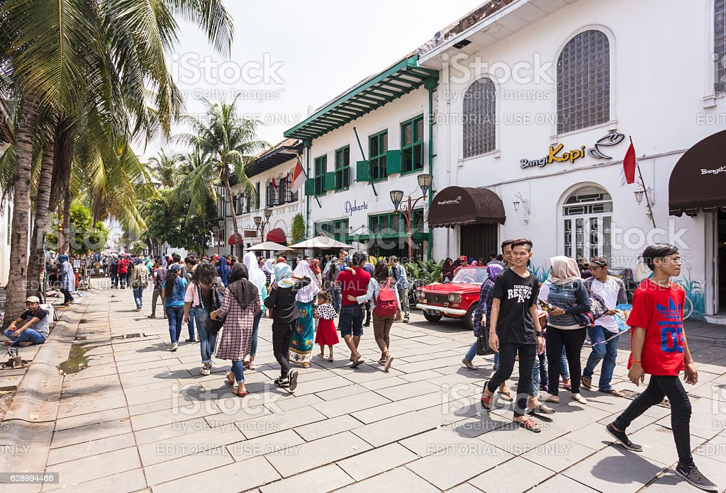 Jakarta old town in Indonesia capital city. stock photo
