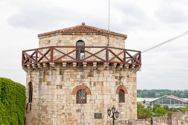 Jakšić's Tower at the Belgrade Fortress stock photo
