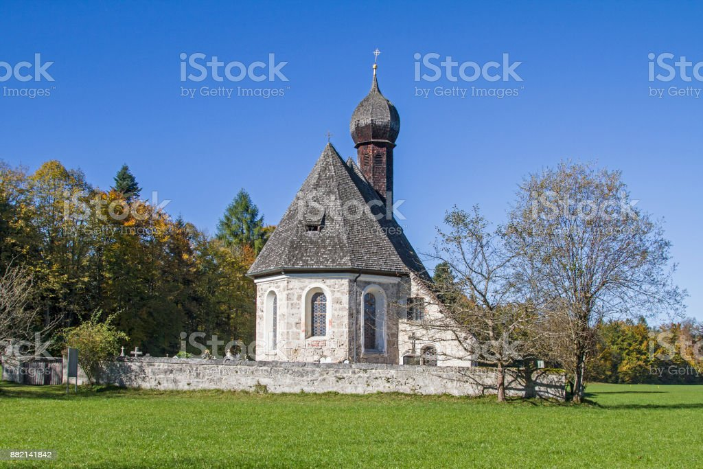 Jakobs church in Gotzing stock photo