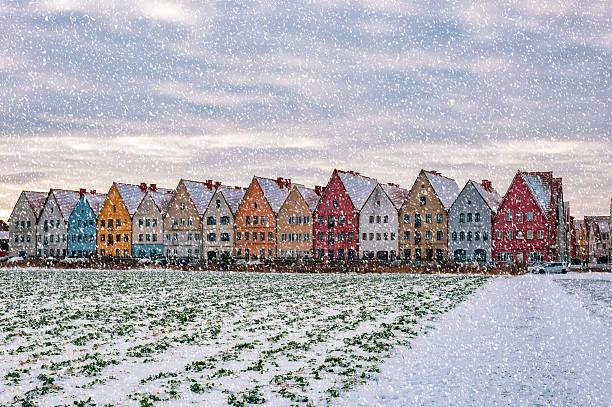jakriborg from snowy field - skåne bildbanksfoton och bilder