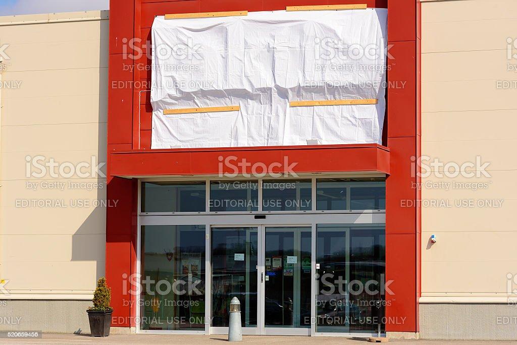 Jaktia shop closed stock photo