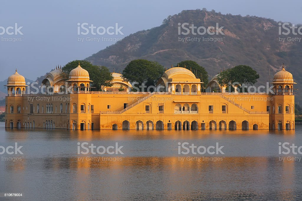 Jal Mahal and Man Sagar Lake in Jaipur, Rajasthan, India. stock photo
