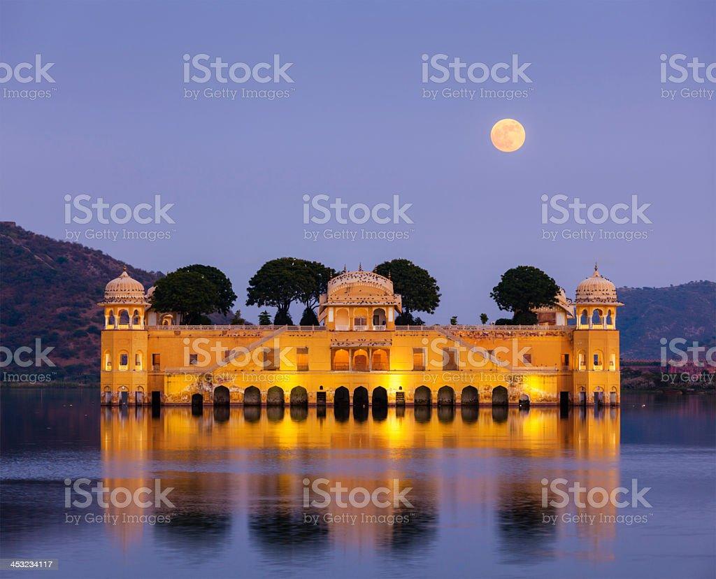 Jal Mahal (Water Palace).  Jaipur, Rajasthan, India - Royalty-free Ancient Stock Photo