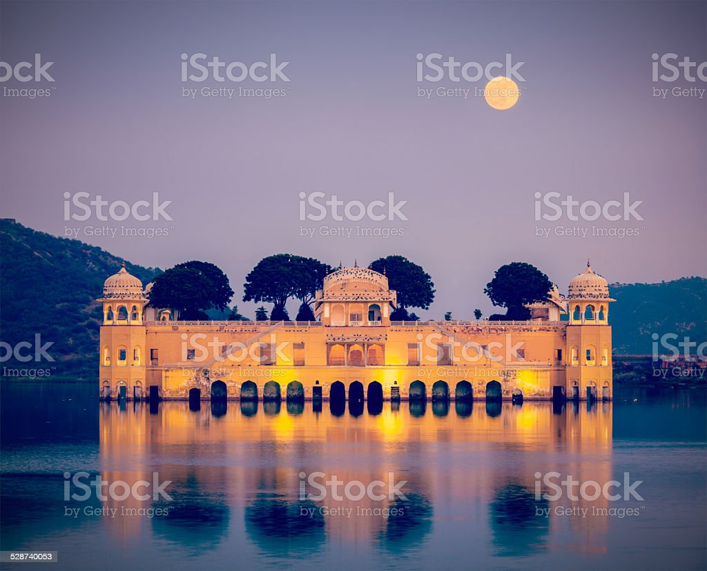 Jal Mahal (Water Palace).  Jaipur, Rajasthan, India stock photo