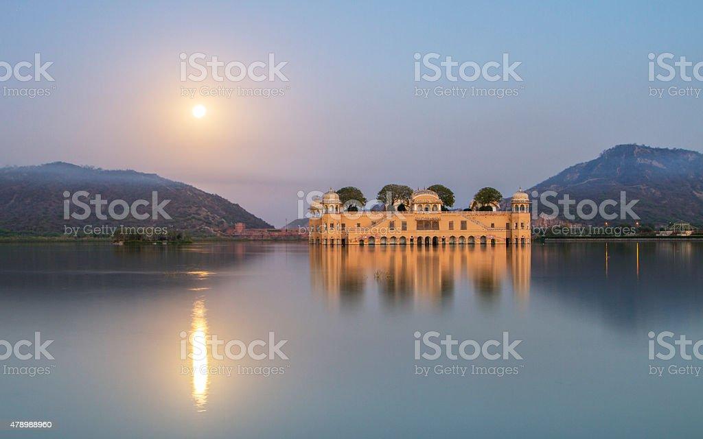 Jal Mahal water palace stock photo