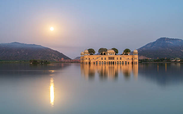 Jal Mahal water palace India,tranquility,palace,lake udaipur stock pictures, royalty-free photos & images