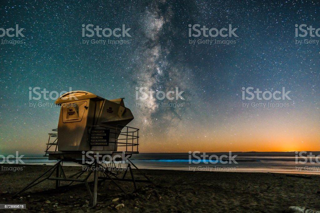 Jalama Beach Moonset stock photo