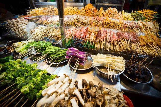 Jalan Alor Lok-Lok malaysische Küche – Foto