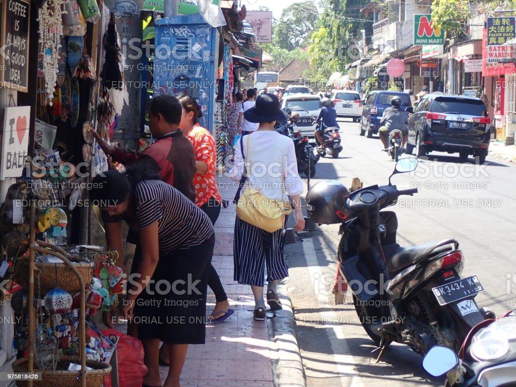 Jalan Jalan/Aufnahme einen Spaziergang in Ubud, Bali - Lizenzfrei Affenwald von Ubud Stock-Foto