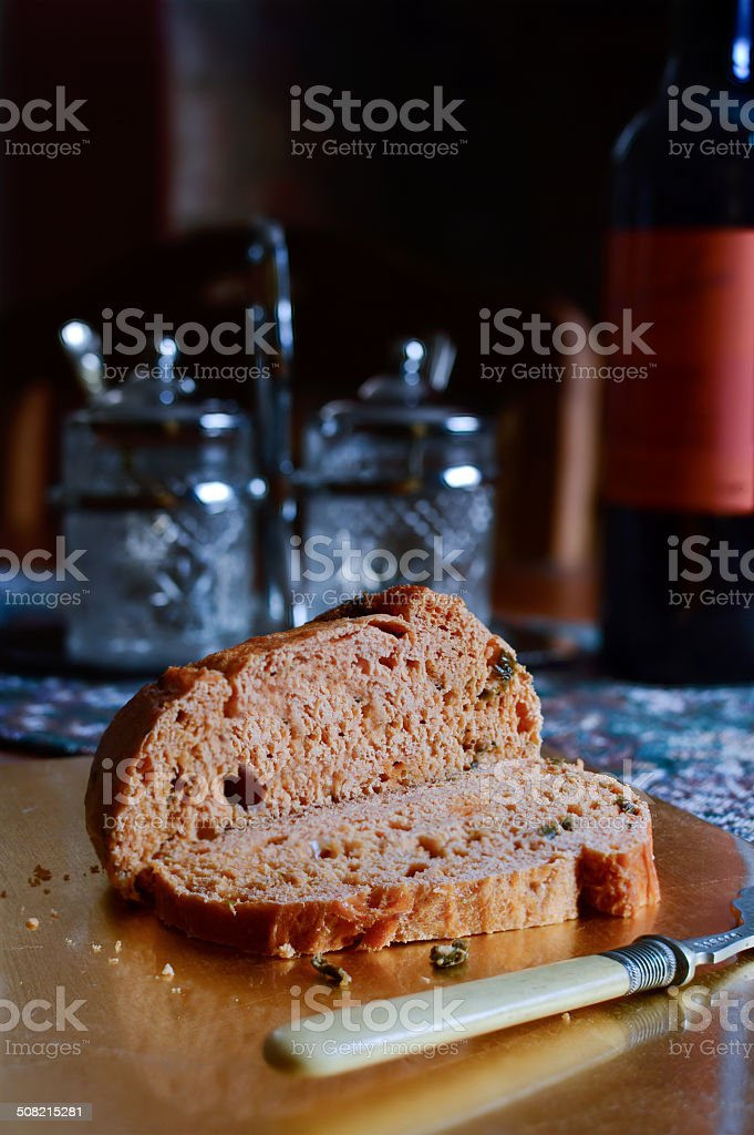 Jalapeno and cheese loaf stock photo