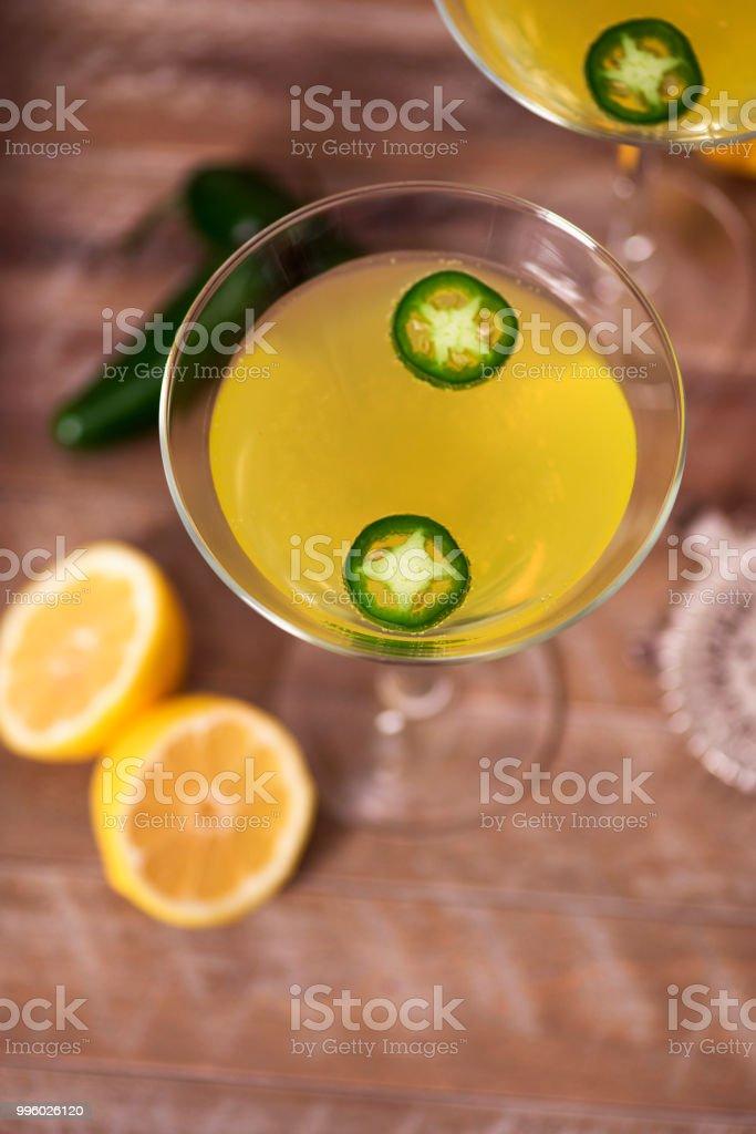 Jalapeno Martinis stock photo