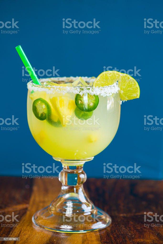 Jalapeno Pepper Margarita stock photo