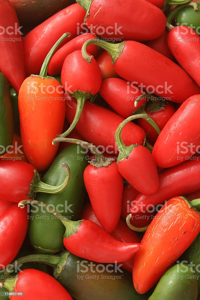 Jalapeno peppers background royalty-free stock photo