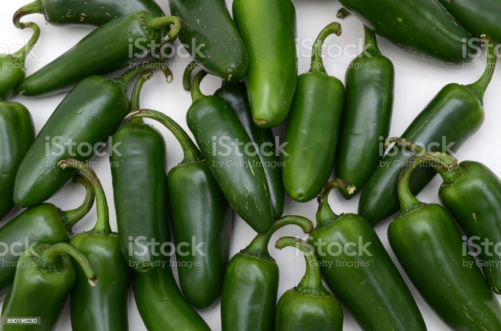 Jalapeno peppers close up stock photo