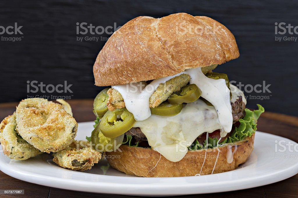 Jalapeño Burger stock photo