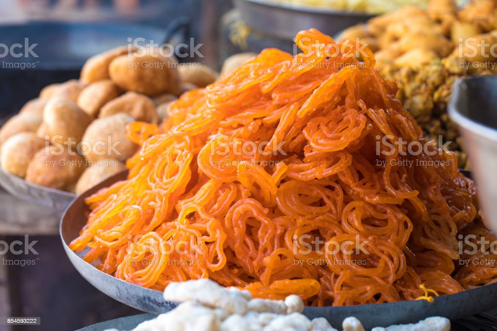 Jalebi Sweet stock photo