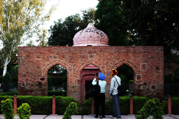 jallianwala bagh  memorial, (bullet marks wall) in amritsar punjab, india - memorial day weekend stock pictures, royalty-free photos & images