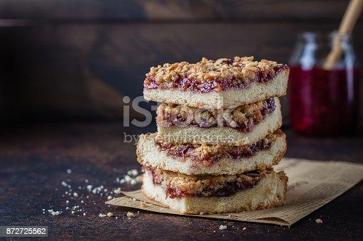 istock Jam Bars Raspberry Pie 872725562