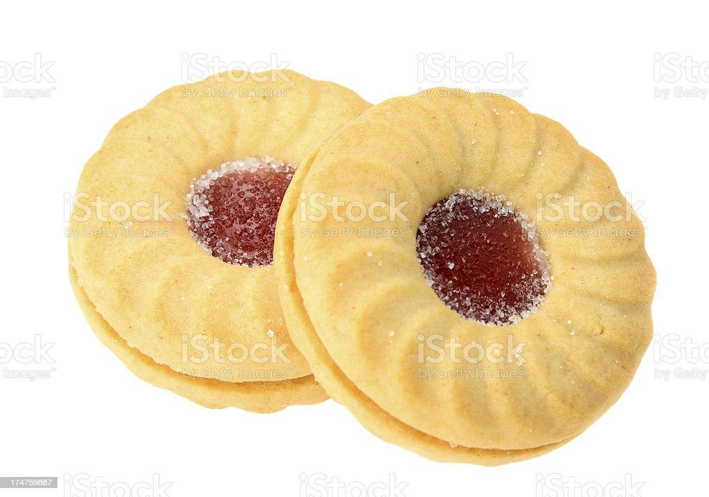 Jam biscuit stock photo