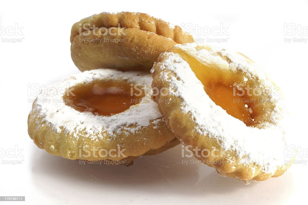 Jam Filled Biscuits royalty-free stock photo