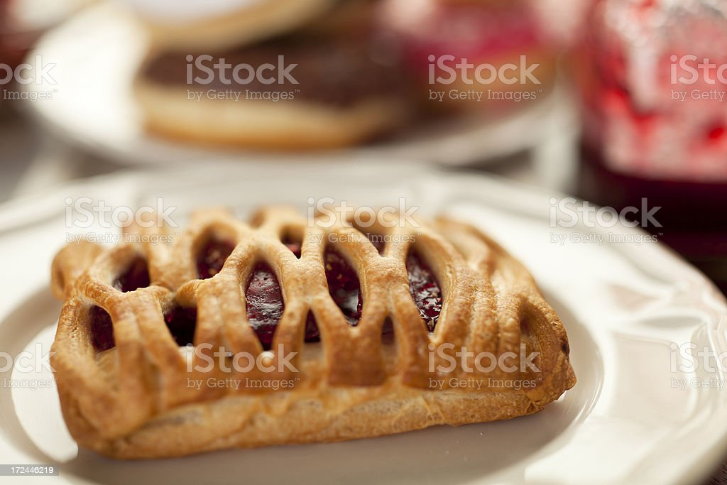 Jam filled pastry royalty-free stock photo