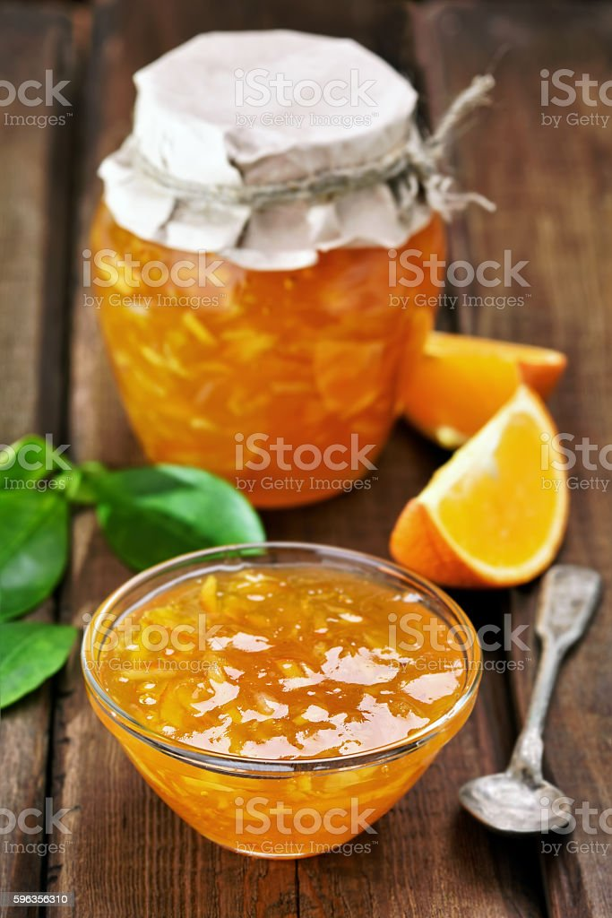 Jam from orange fruits royalty-free stock photo