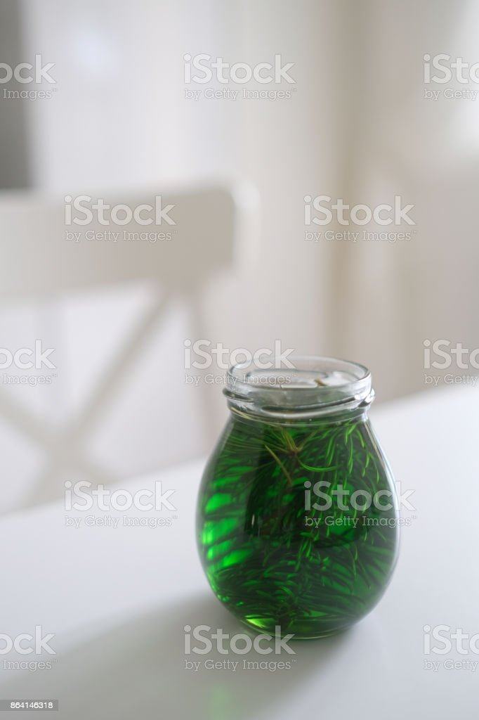 Jam from spruce branches. Exotic and unique jam. royalty-free stock photo