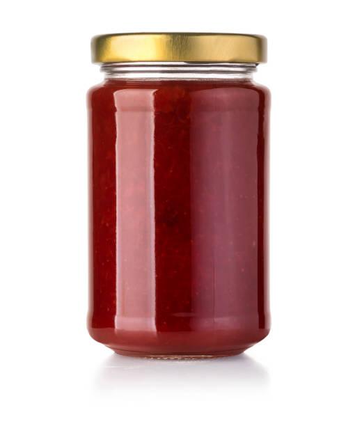 jam glass jar - jam jar imagens e fotografias de stock