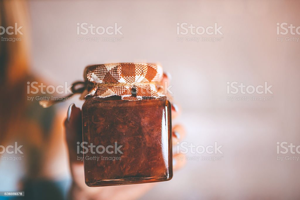jam jar stock photo