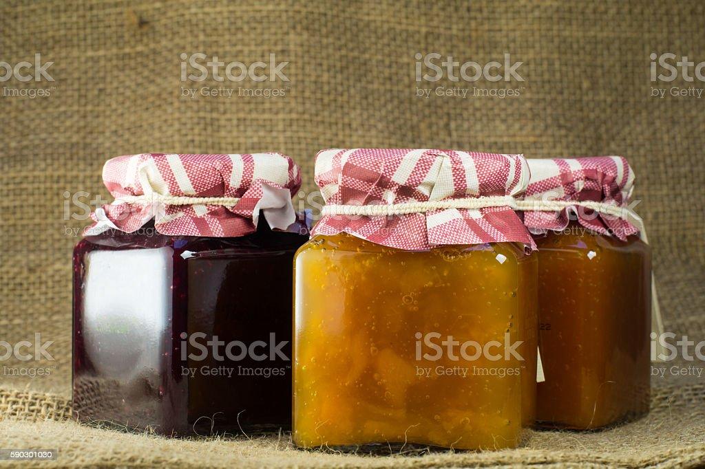 jam made by hand, with toasted bread, Italian breakfast Стоковые фото Стоковая фотография