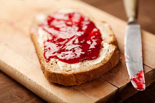 Marmelade auf Brot – Foto
