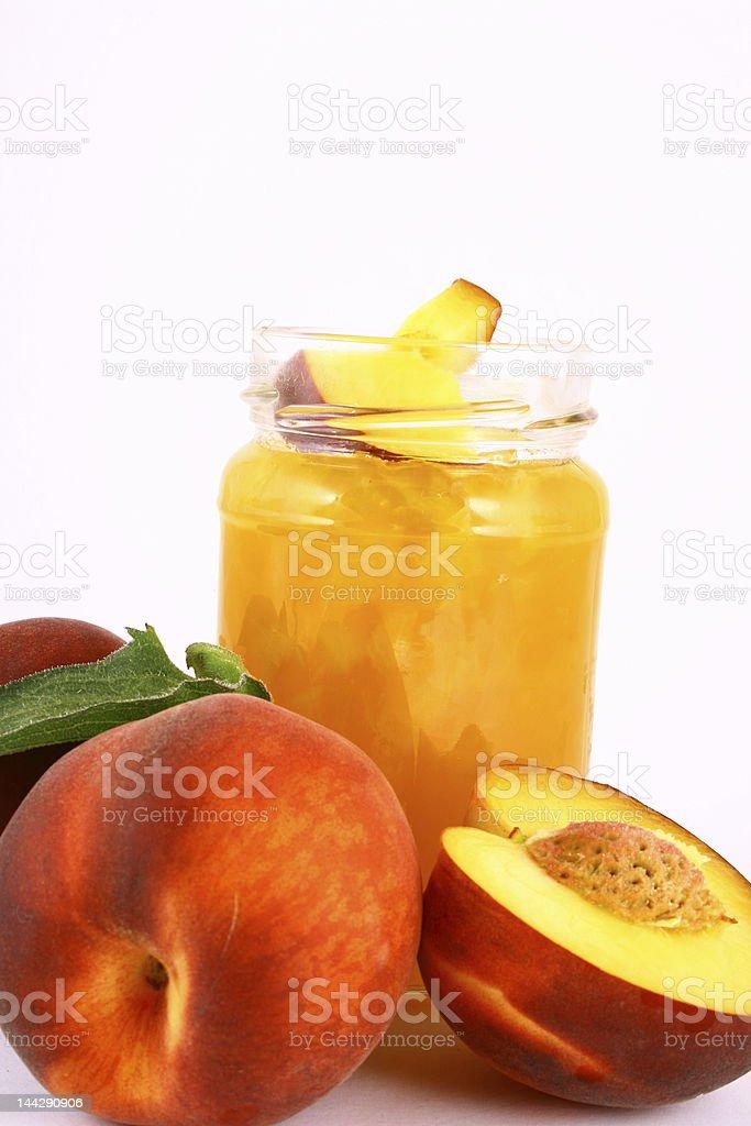 jam peach royalty-free stock photo