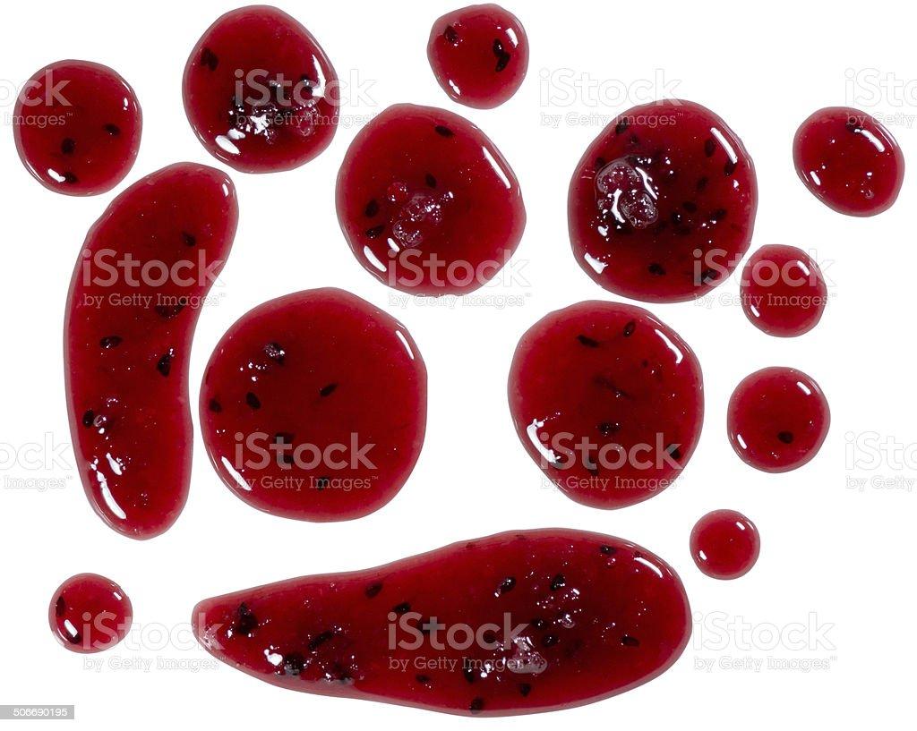 Jam splats isolated on white stock photo