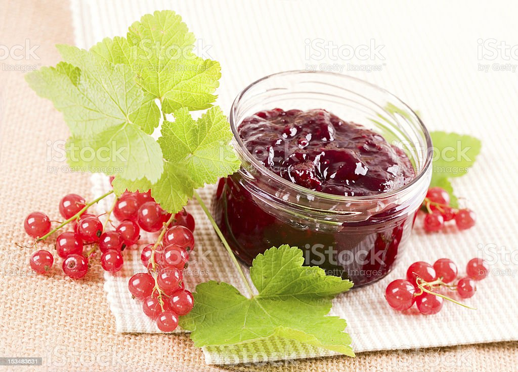 Jam with  red currant royalty-free stock photo