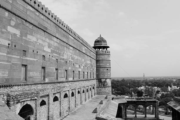 Jama Masjid, Agra I clicked outside of jama masjid because this one click is showing some city of agra. agra jama masjid mosque stock pictures, royalty-free photos & images