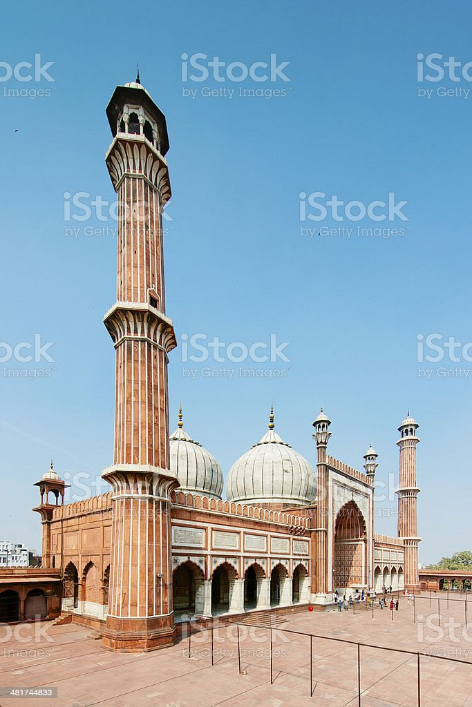 Jama Masjid Delhi India stock photo