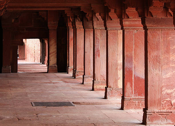 Jama Masjid, Fatehpur Sikri in Agra Detail at Jama Masjid Mosque in Fatehpur Sikri, ancient city founded by Mughal emperor Akbar, one of the best preserved collections of Indian Mughal architecture  in Agra, Uttar Pradesh, India agra jama masjid mosque stock pictures, royalty-free photos & images
