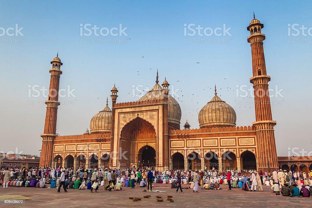 Jama Masjid in Old Delhi, India stock photo