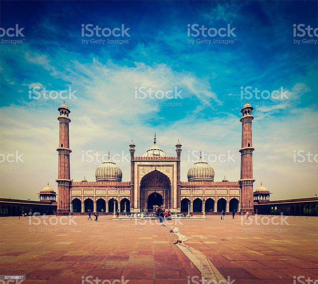 Jama Masjid - largest muslim mosque in India stock photo
